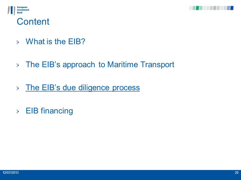 Content What is the EIB.