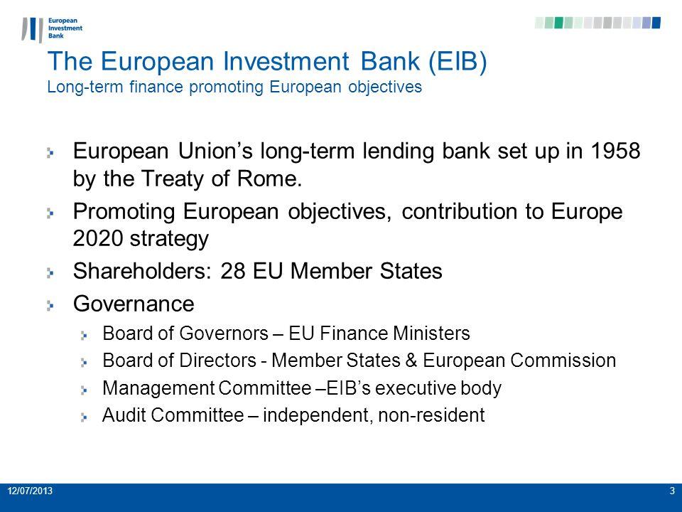 12/07/20134 EIB Signatures 1958-2012