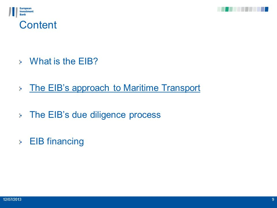 10 Background for intervention in waterborne transport Ports form the main gateway to international trade for the EU and the demand for waterborne transport is expected to increase in the future.