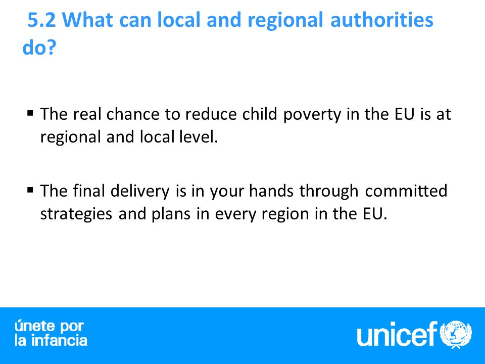 5.2 What can local and regional authorities do.