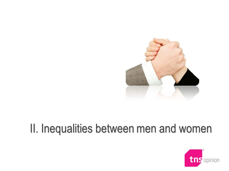 II. Inequalities between men and women
