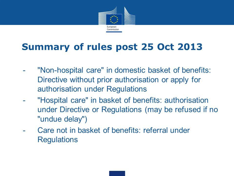 Summary of rules post 25 Oct 2013 -