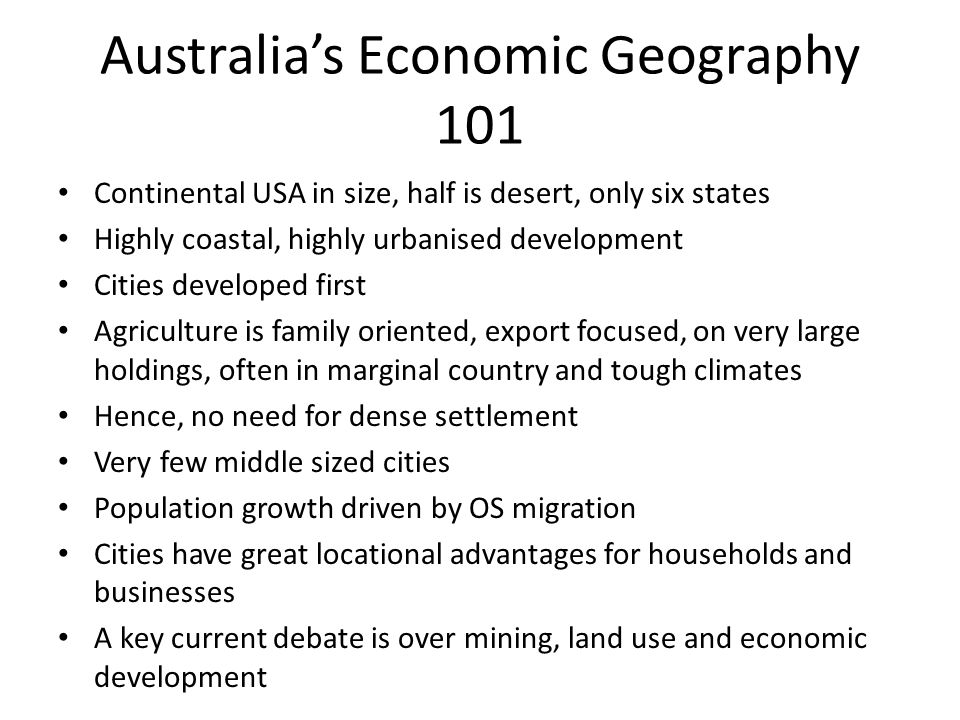Regional Policy in Australia Three levels of government – national, State, local All involved in regional development BUT...