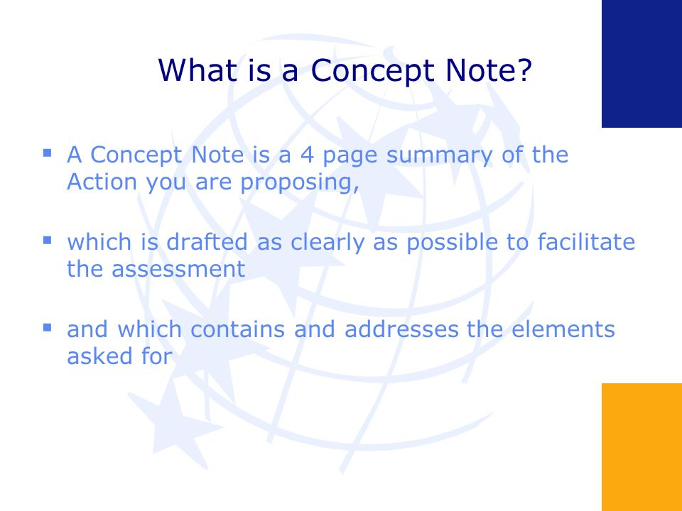 What is a Concept Note.