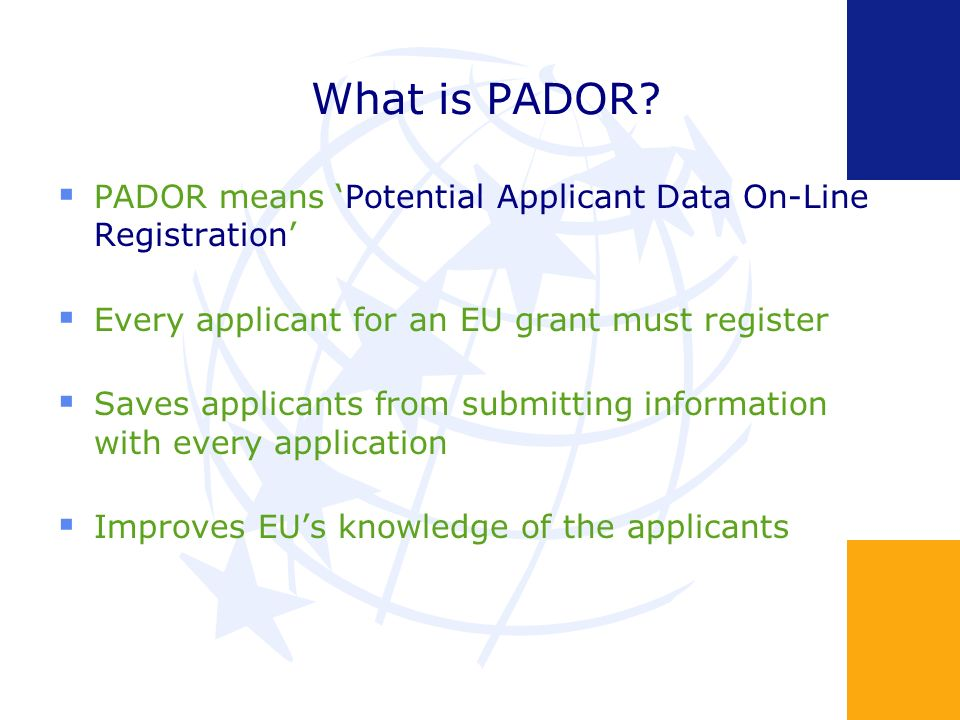 What is PADOR.
