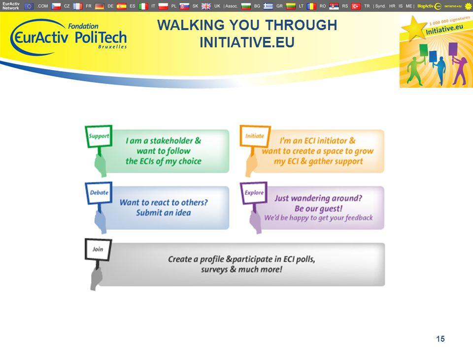 WALKING YOU THROUGH INITIATIVE.EU 15