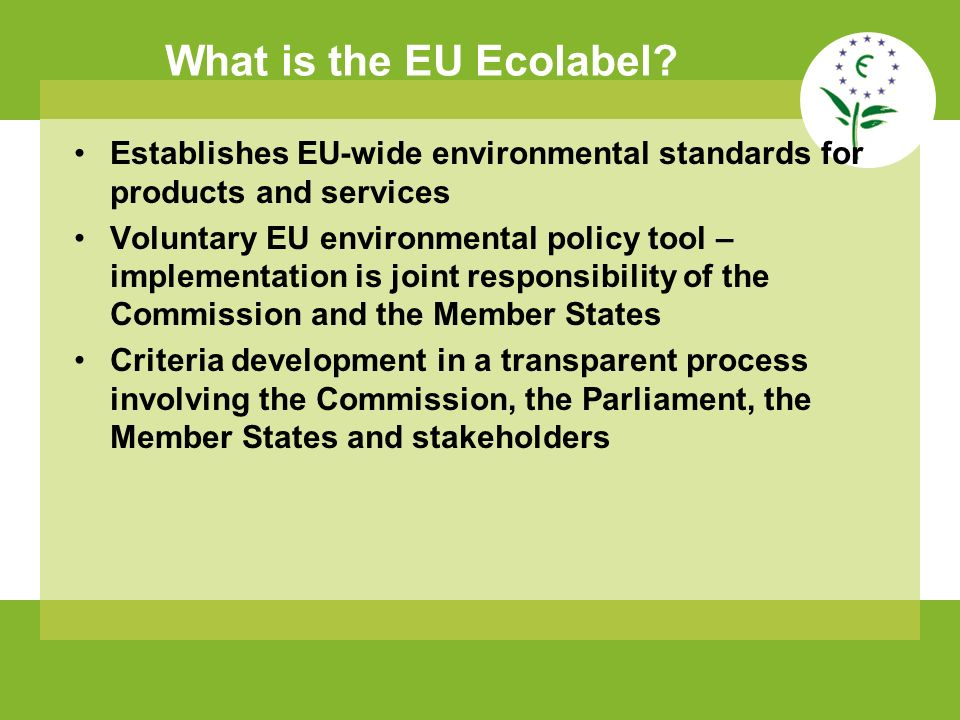 What is the EU Ecolabel.