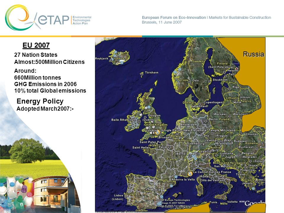 EU Policy Adopted March 2007- by its 27 Member States Million tonnes Carbon emissions P.A.