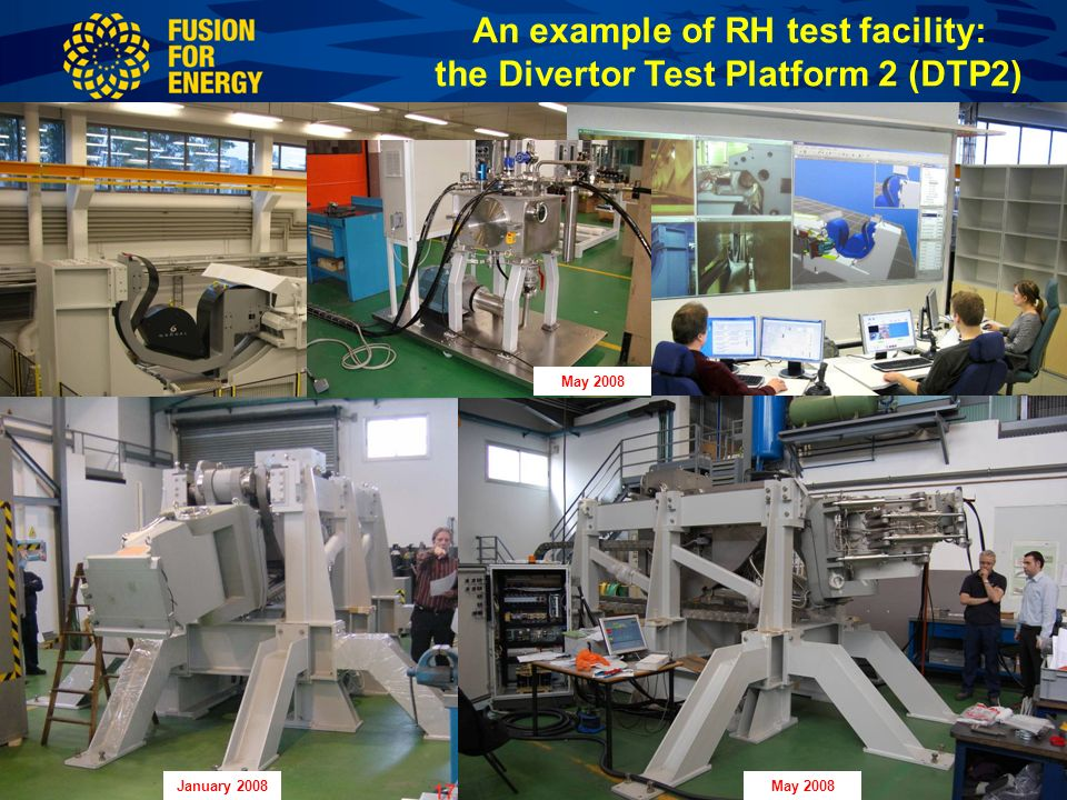CODAC meeting - EU contribution to ITER RH – October 2008 -Slide 15 An example of RH test facility: the Divertor Test Platform 2 (DTP2) January 2008May 2008