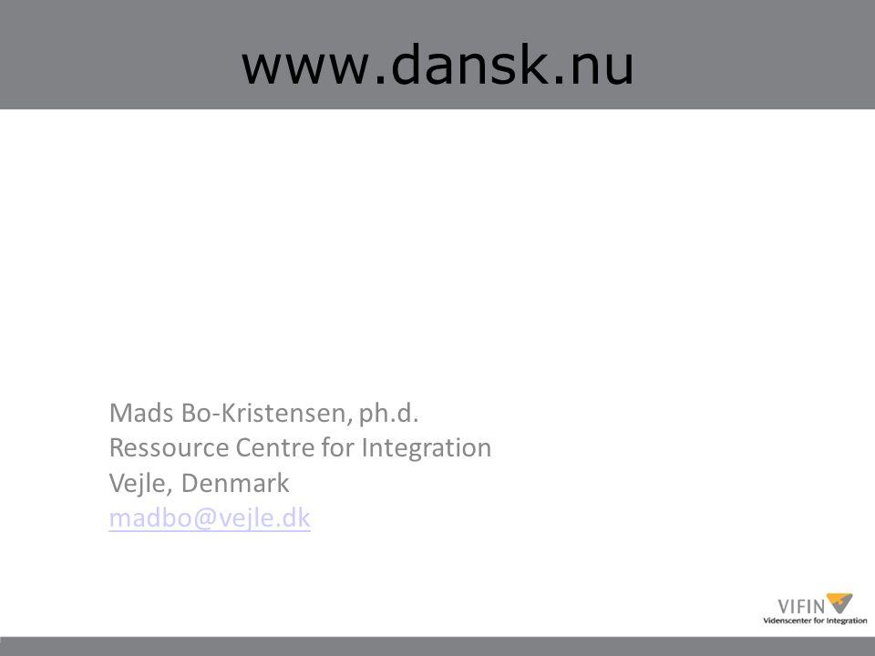 www.dansk.nu Mads Bo-Kristensen, ph.d.