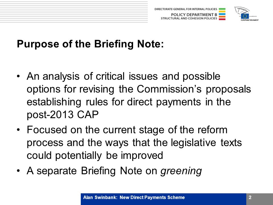 Requirements of the Green Box (3/3) Plus policy specific criteria For example, Decoupled Income Support shouldnot be related to, or based on, the factors of production employed in any year after the base period (subpara.