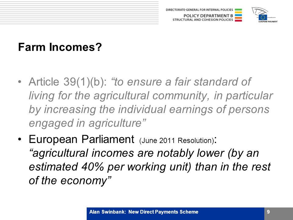 Farm Incomes.If true, surely this is a shocking indictment of 50 years of policy failure.