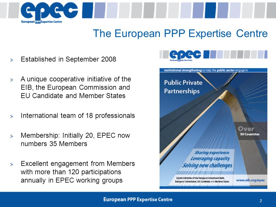 2 Established in September 2008 A unique cooperative initiative of the EIB, the European Commission and EU Candidate and Member States International t
