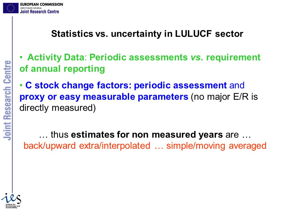 Statistics vs. uncertainty in LULUCF sector Activity Data: Periodic assessments vs.