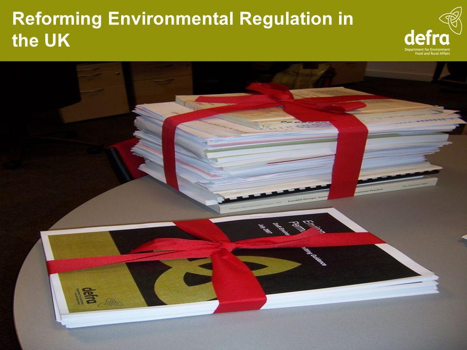 Reforming Environmental Regulation in the UK