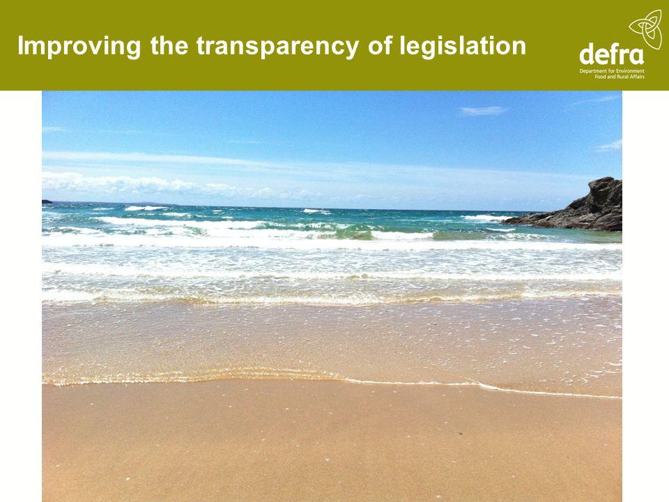 Improving the transparency of legislation