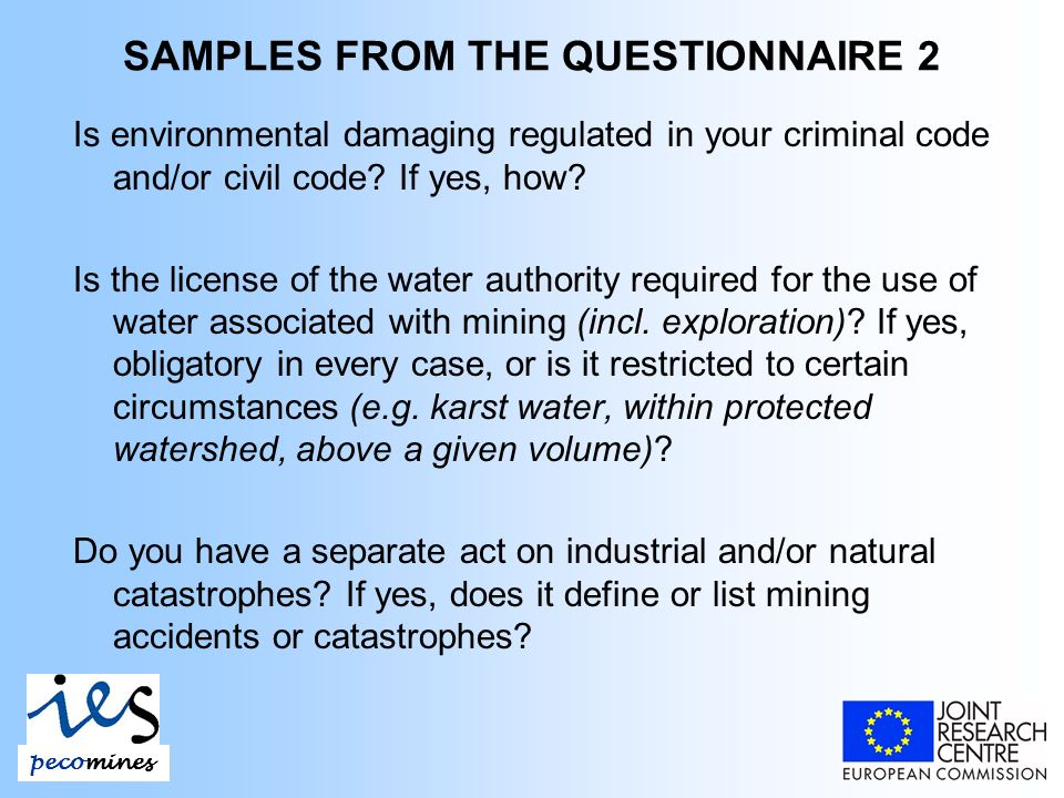 Is environmental damaging regulated in your criminal code and/or civil code.