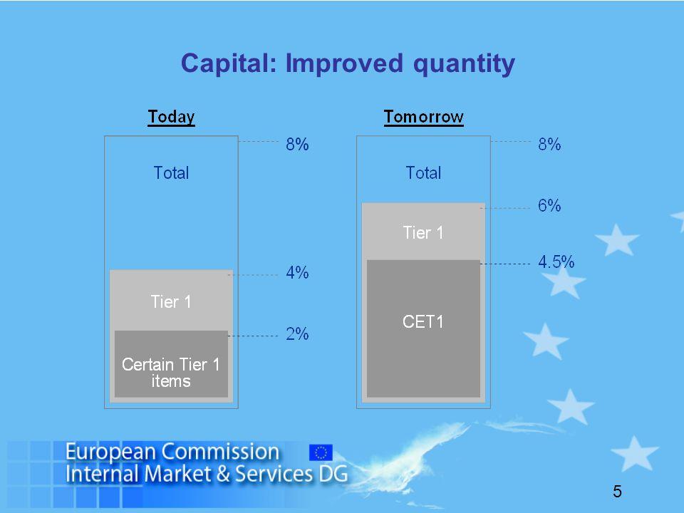 5 Capital: Improved quantity