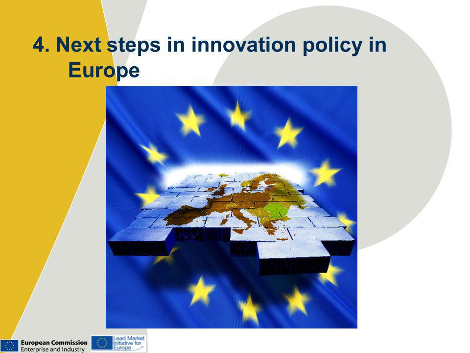 4. Next steps in innovation policy in Europe