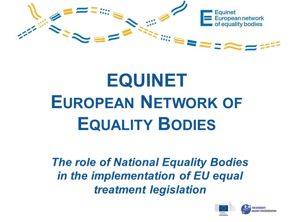 EQUINET E UROPEAN N ETWORK OF E QUALITY B ODIES The role of National Equality Bodies in the implementation of EU equal treatment legislation