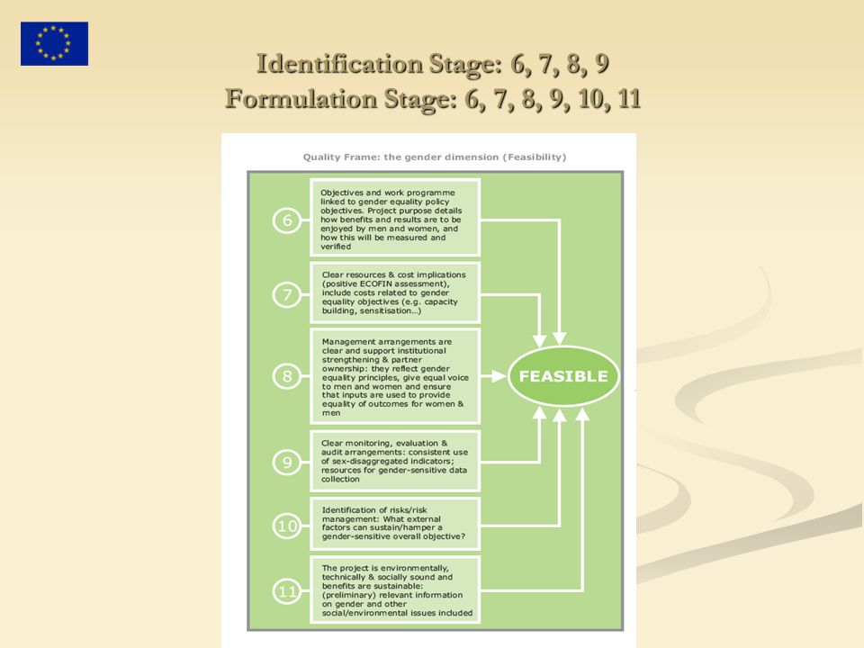 Identification Stage: 6, 7, 8, 9 Formulation Stage: 6, 7, 8, 9, 10, 11