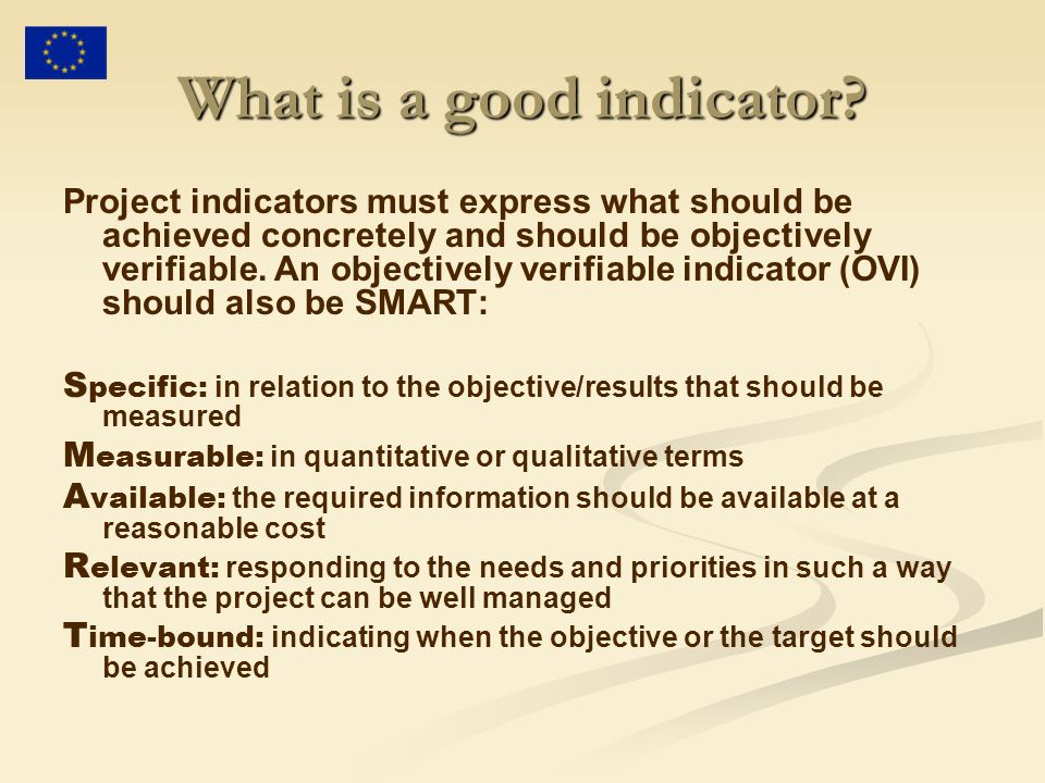 What is a good indicator.