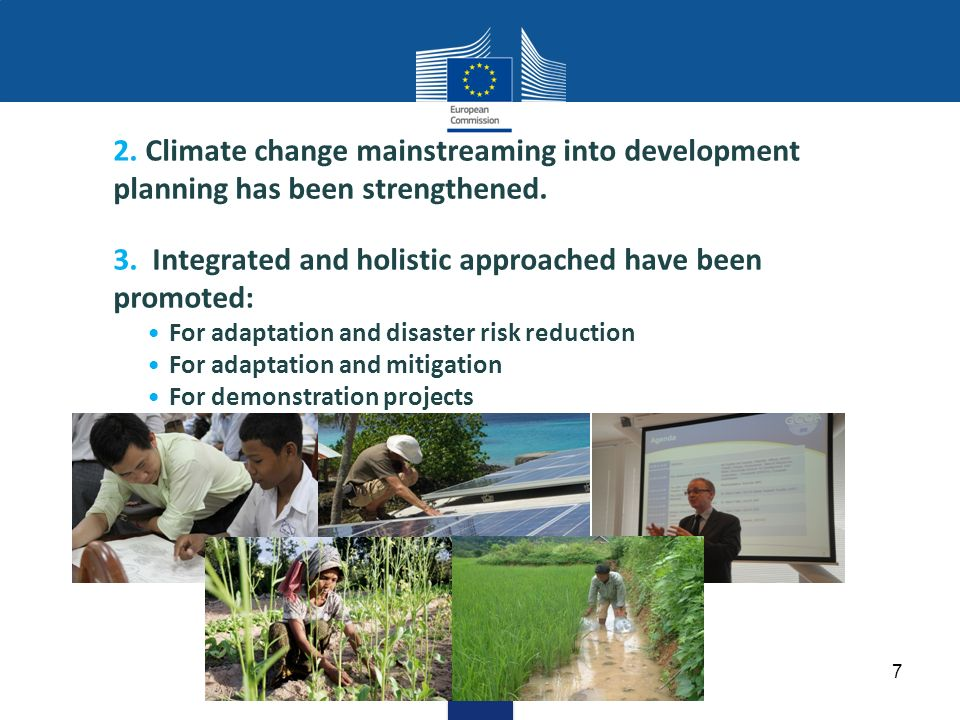 2. Climate change mainstreaming into development planning has been strengthened.