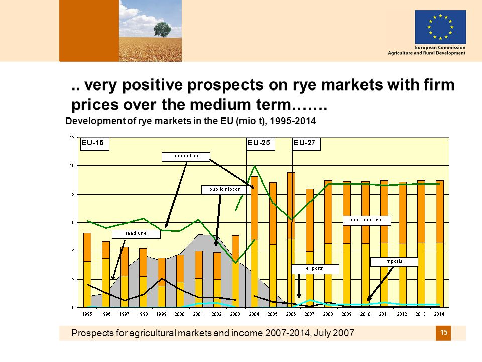 Prospects for agricultural markets and income 2007-2014, July 2007 15..