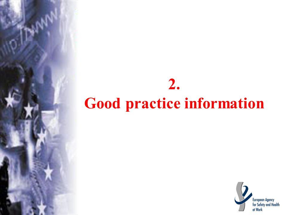 2. Good practice information