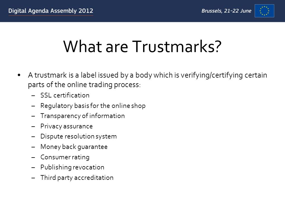 What are Trustmarks.