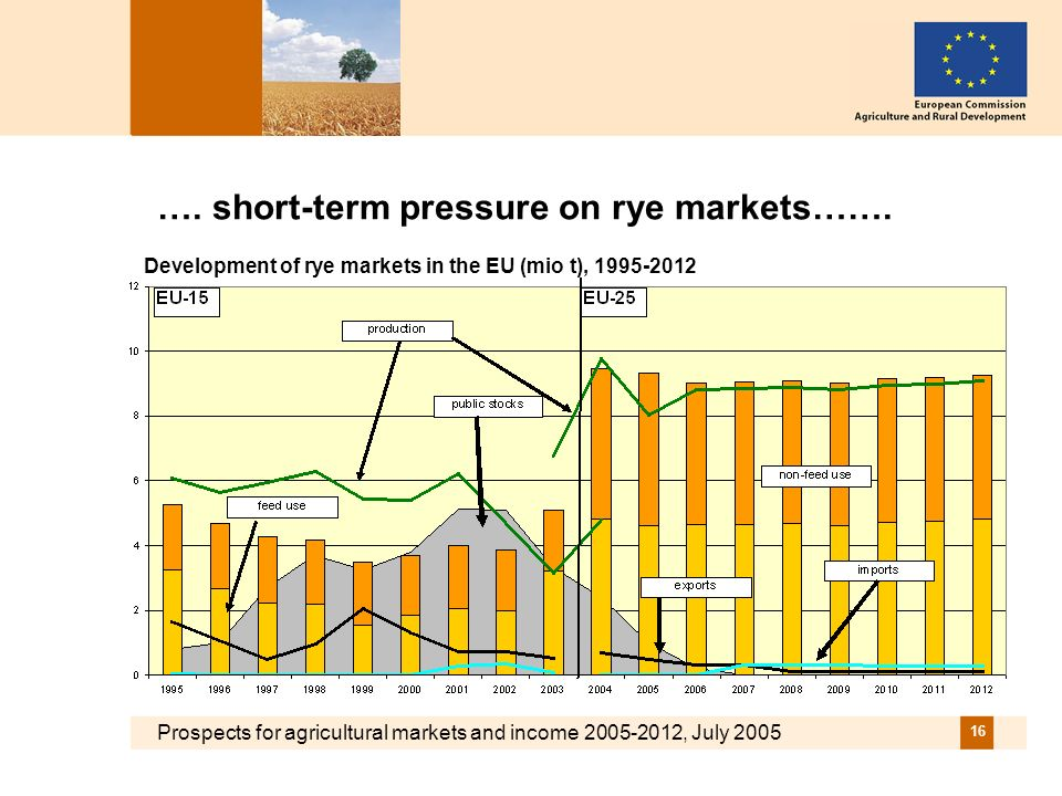 Prospects for agricultural markets and income 2005-2012, July 2005 16 ….