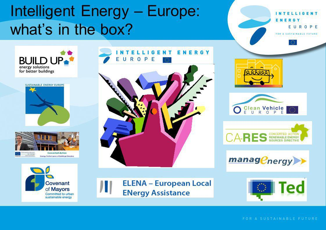 Intelligent Energy – Europe: whats in the box?