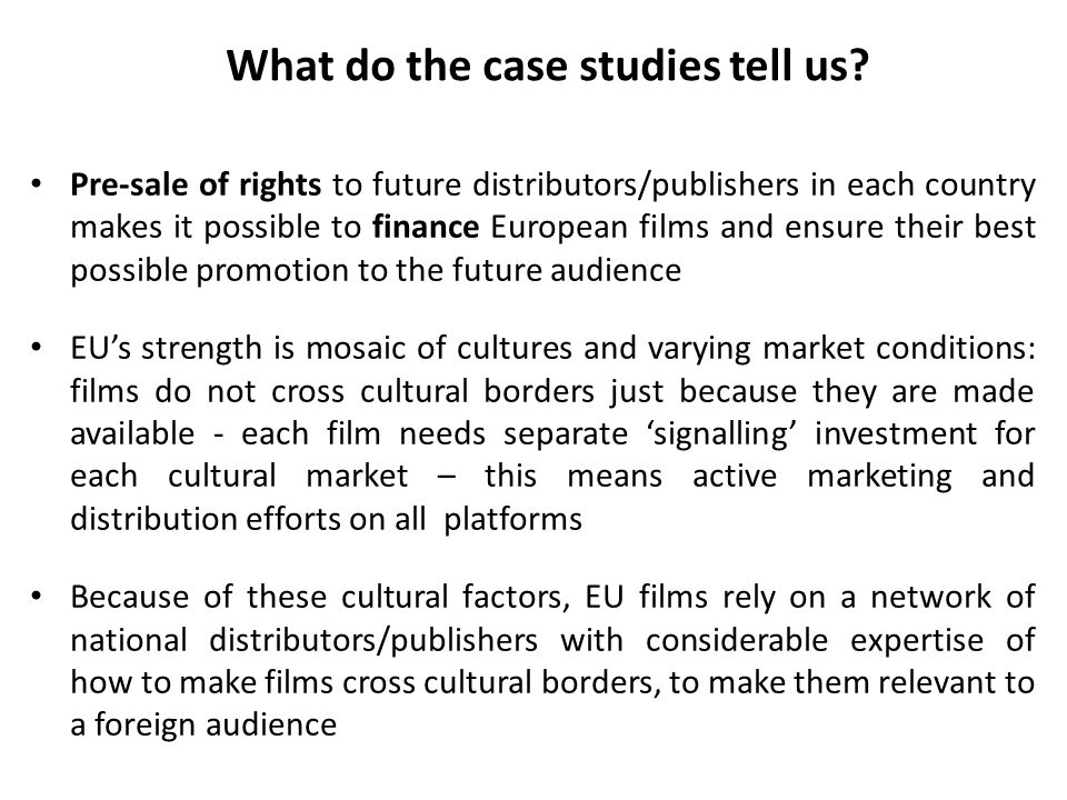 What do the case studies tell us.