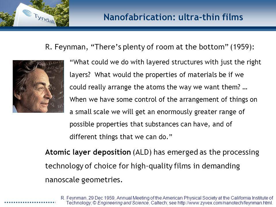 www.tyndall.ie Nanofabrication: ultra-thin films R.