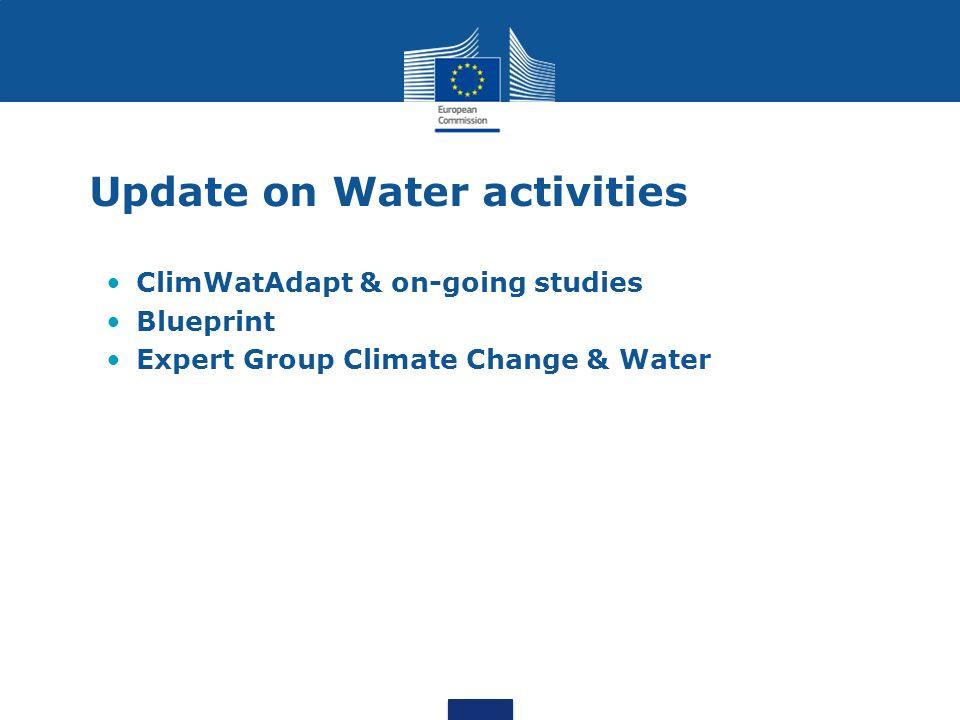 Update on Water activities ClimWatAdapt & on-going studies Blueprint Expert Group Climate Change & Water
