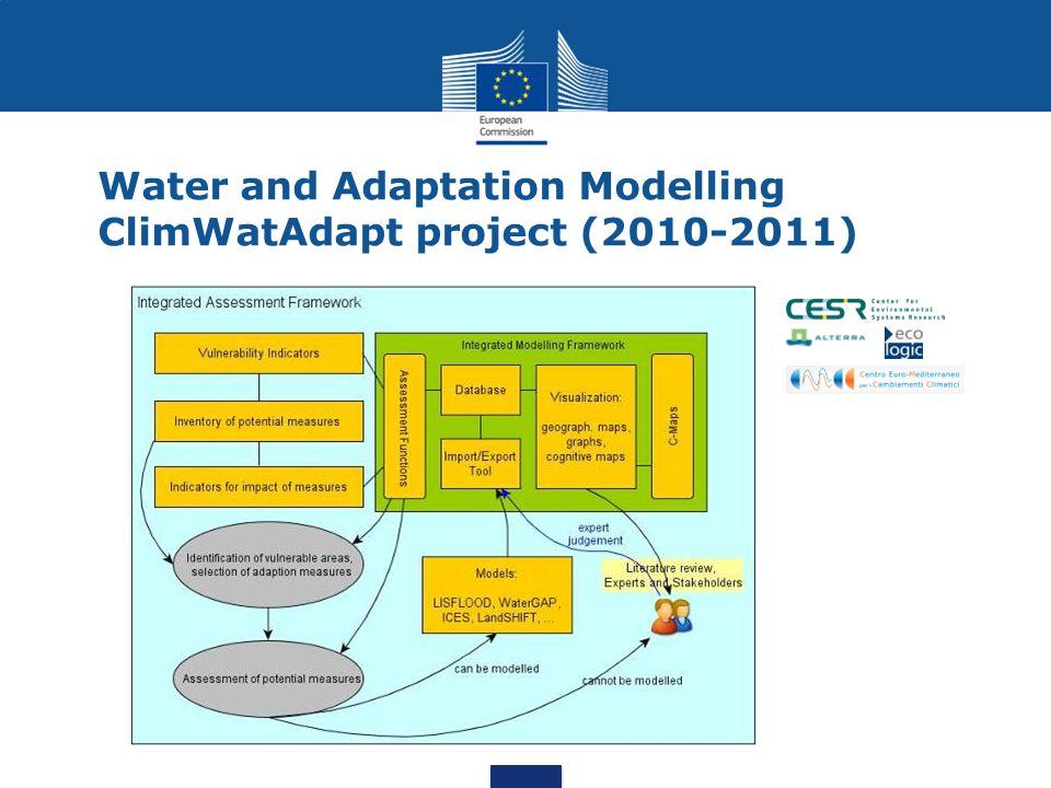 Water and Adaptation Modelling ClimWatAdapt project (2010-2011)
