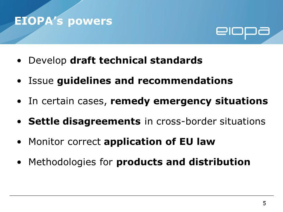 6 EIOPAs activity Regulation Solvency II Input to the EU Commission on the Level 2 implementing measures On-going work on the Regulatory Technical Standards and Guidelines and Recommendations Review of the IORP Directive Draft answer to the call for advice from the EU Commission (in public consultation until 2 January 2012) Introduce a risk-based framework in the EU occupational pensions supervision