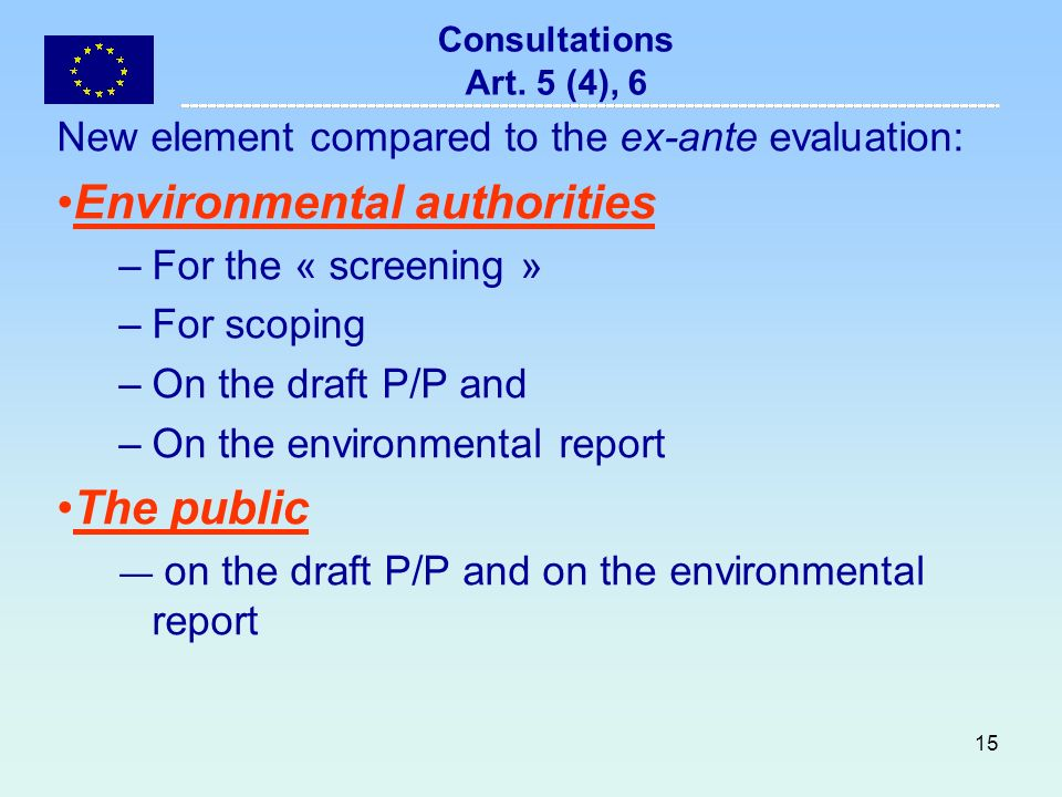 15 Consultations Art.