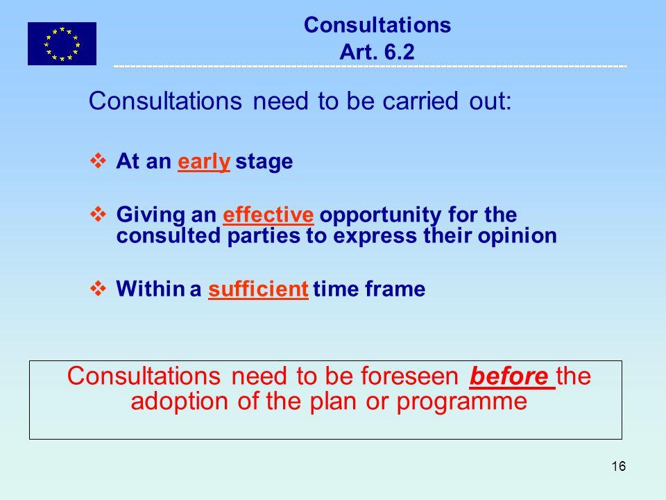 16 Consultations Art.