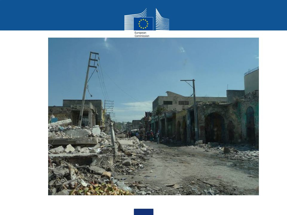 Situation analysis 60.000 killed per year, 97 % of them in developing countries 200 m people affected per year by disasters 69 billion EUR material damage per year increasing population pressure climate change more disasters and conflicts in the future