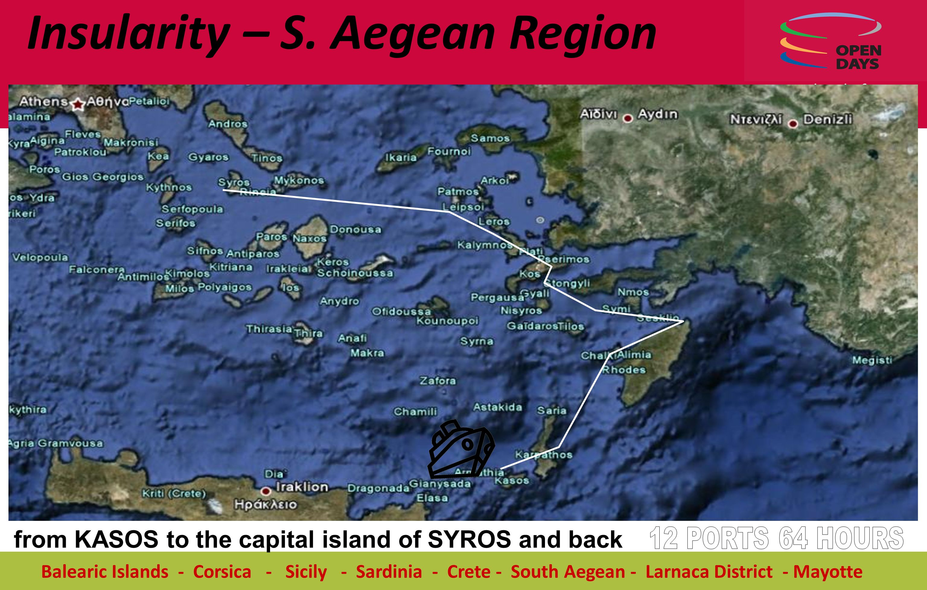 Islands for equal chances Balearic Islands - Corsica - Sicily - Sardinia - Crete - South Aegean - Larnaca District - Mayotte from KASOS to the capital island of SYROS and back Insularity – S.