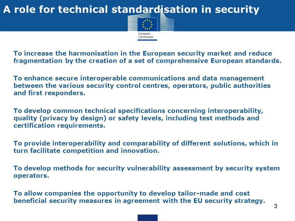 14 Contact Paolo Salieri DG Enterprise and Industry Policy and Research in Security Phone +32 2 29 62951 Email: paolo.salieri@ec.europa.eu Website: http://ec.europa.eu/enterprise/policies/security/index_en.htm