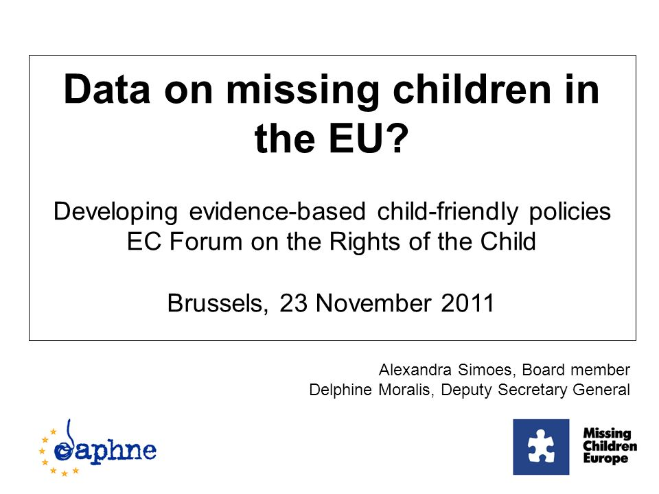 Data on missing children in the EU.