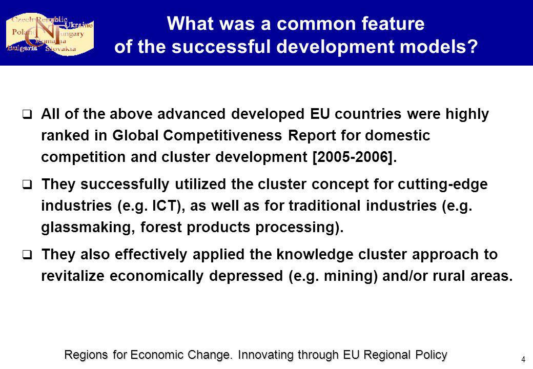 Regions for Economic Change.Innovating through EU Regional Policy 5 What are the clusters.