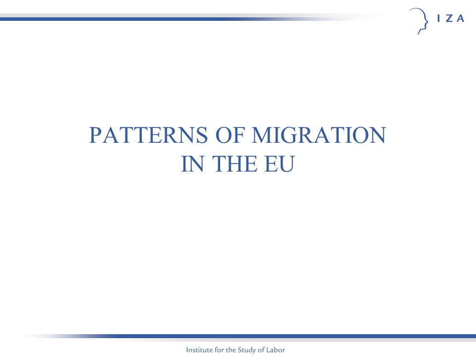 PATTERNS OF MIGRATION IN THE EU