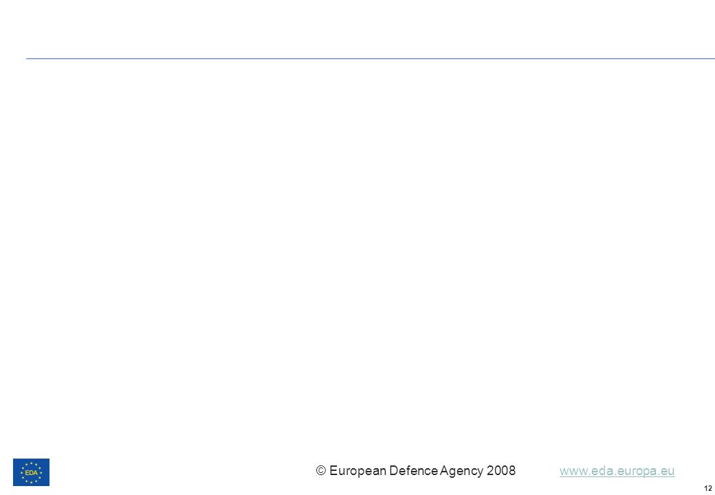 © European Defence Agency 2008 www.eda.europa.euwww.eda.europa.eu 12