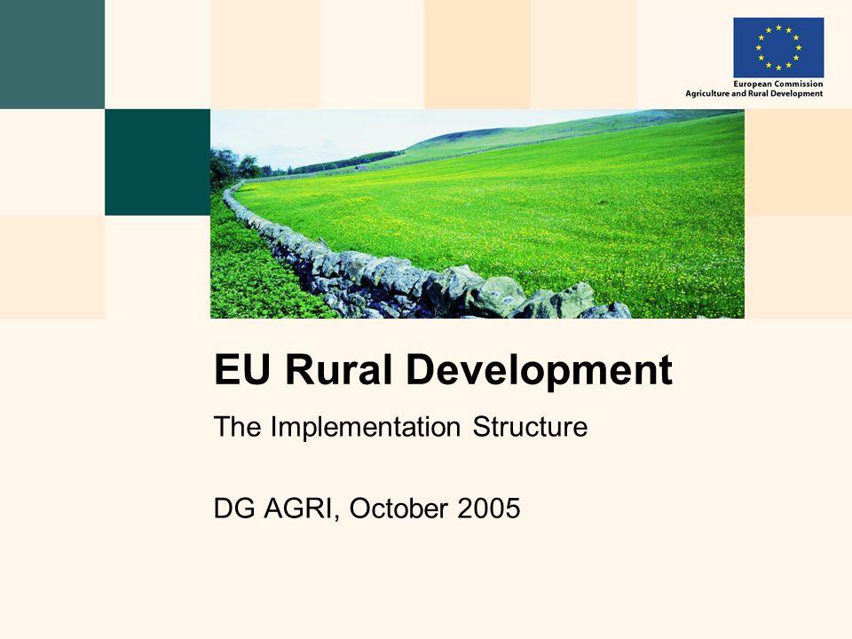 The Implementation Structure DG AGRI, October 2005 EU Rural Development