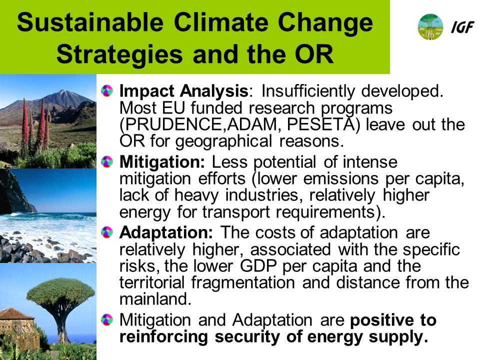 Sustainable Climate Change Strategies and the OR Impact Analysis: Insufficiently developed.