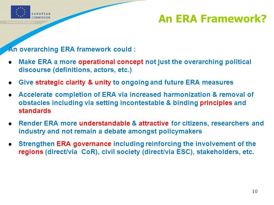 An ERA Framework.
