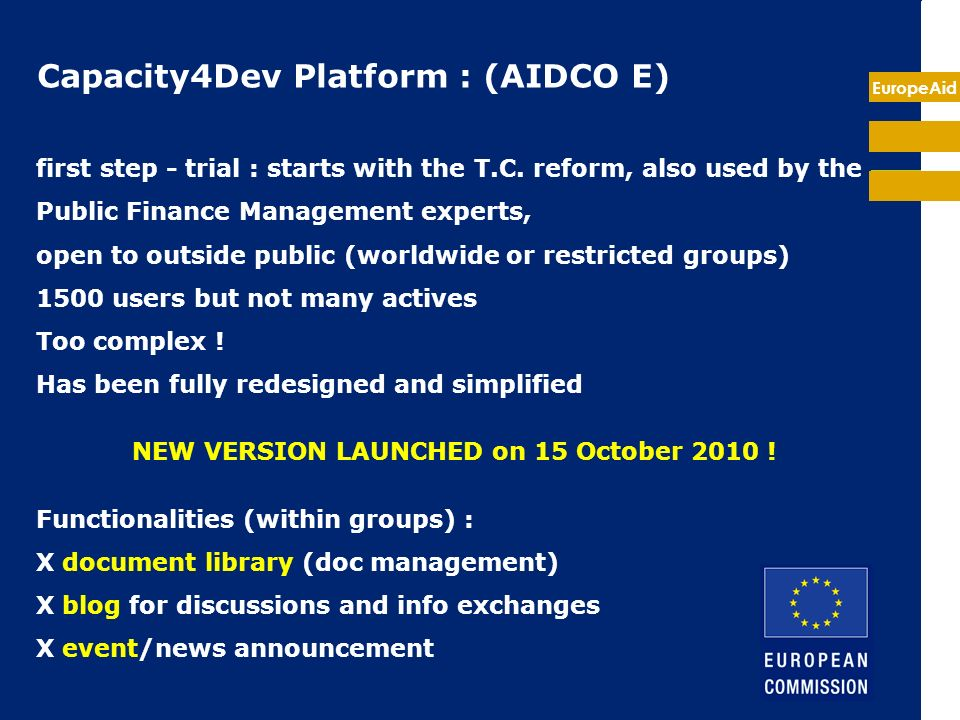 EuropeAid Introduction to the new Capacity4dev